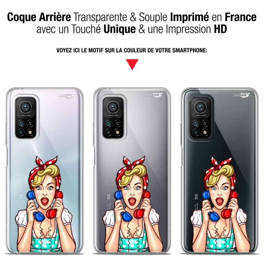 "Coque Gel Xiaomi Mi 10T / 10T Pro 5G (6.67"") Motif - Calling Girl"