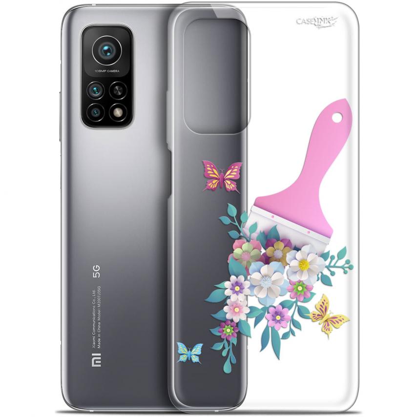 """Coque Gel Xiaomi Mi 10T / 10T Pro 5G (6.67"""") Motif - Pinceau à Fleurs"""