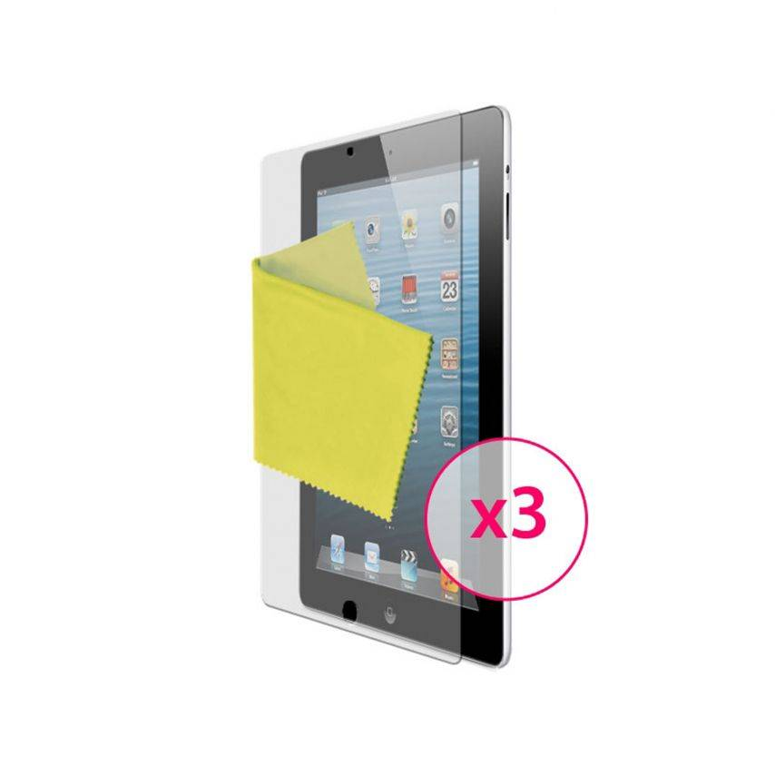 Zoom sur Films de protection anti traces de doigts iPad Clubcase ® Lot de 3