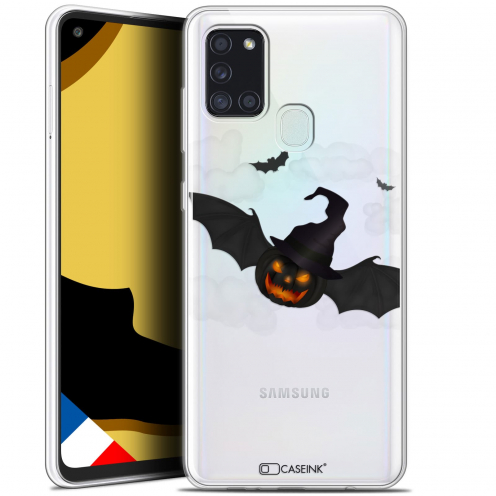 "Coque Gel Samsung A21S (6.5"") Halloween - Chauve Citrouille"
