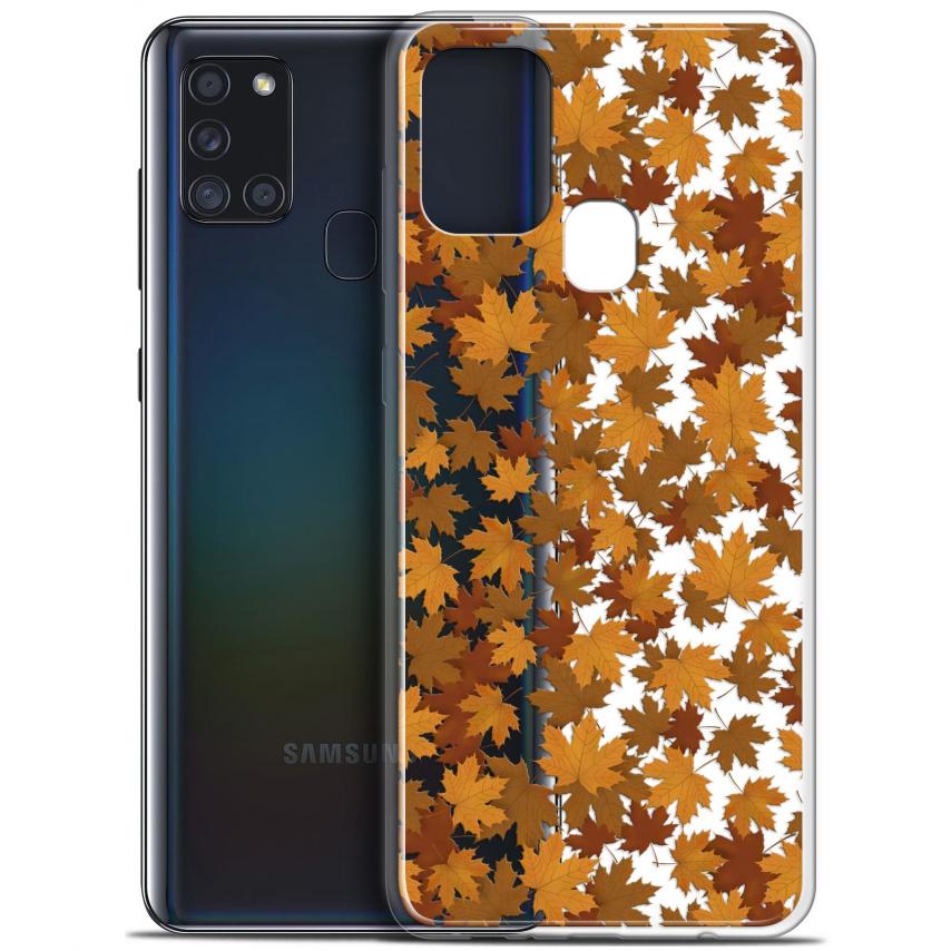 "Coque Gel Samsung A21S (6.5"") Autumn 16 - Feuilles"