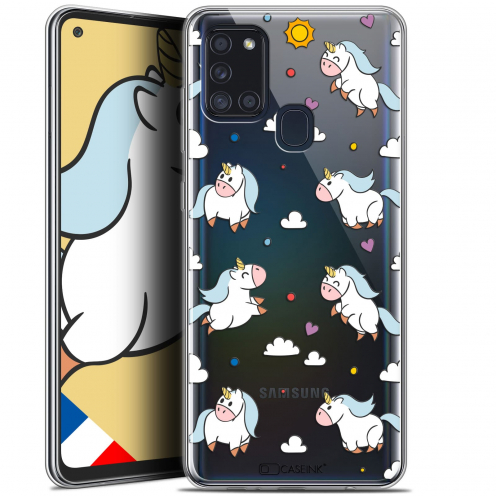 "Coque Gel Samsung A21S (6.5"") Fantasia - Licorne In the Sky"