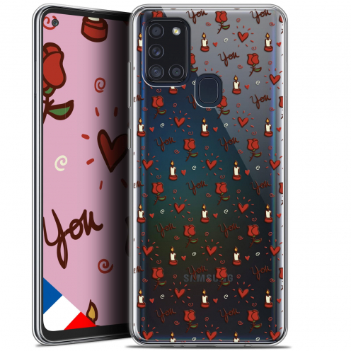"""Coque Gel Samsung A21S (6.5"""") Love - Bougies et Roses"""