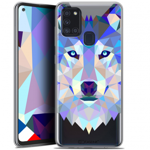 "Coque Gel Samsung A21S (6.5"") Polygon Animals - Loup"