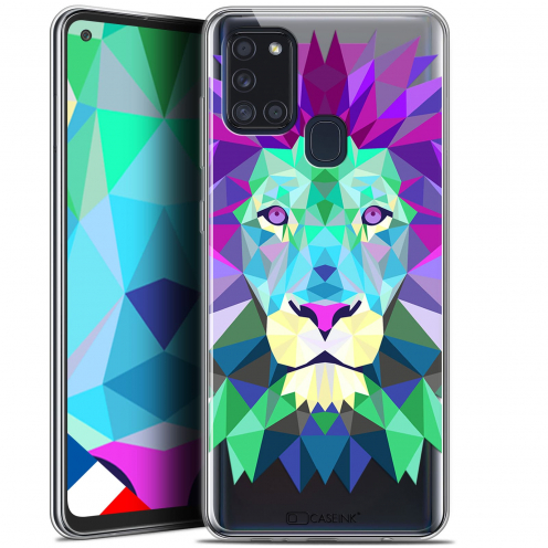 "Coque Gel Samsung A21S (6.5"") Polygon Animals - Lion"