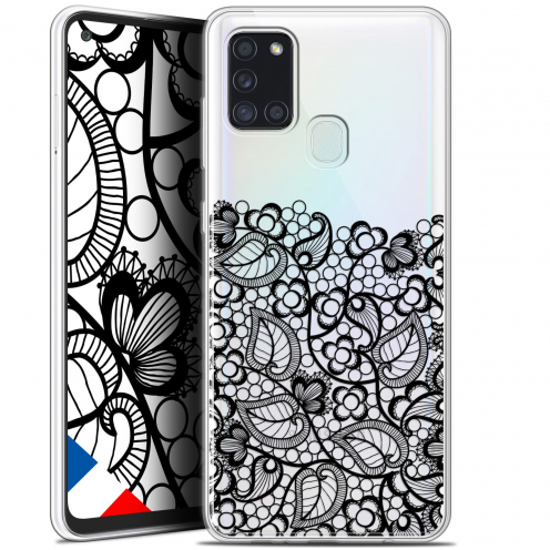"Coque Gel Samsung A21S (6.5"") Spring - Bas dentelle Noir"