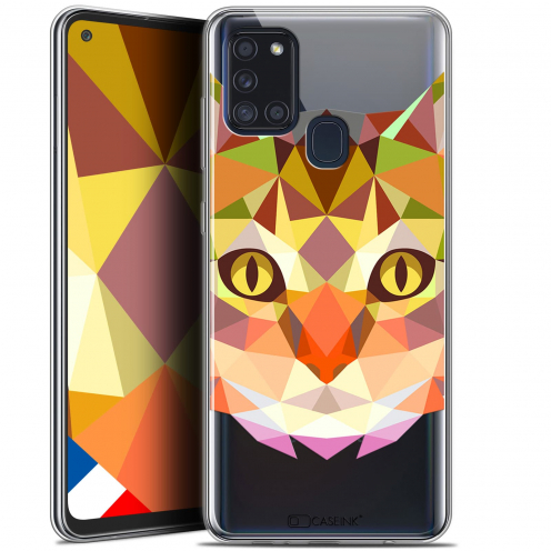 "Coque Gel Samsung A21S (6.5"") Polygon Animals - Chat"