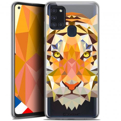 """Coque Gel Samsung A21S (6.5"""") Polygon Animals - Tigre"""