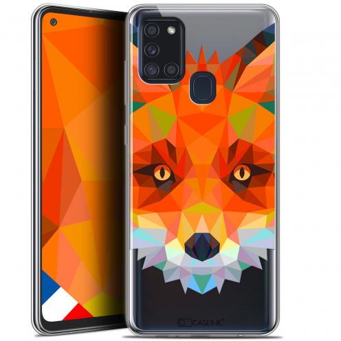 "Coque Gel Samsung A21S (6.5"") Polygon Animals - Renard"