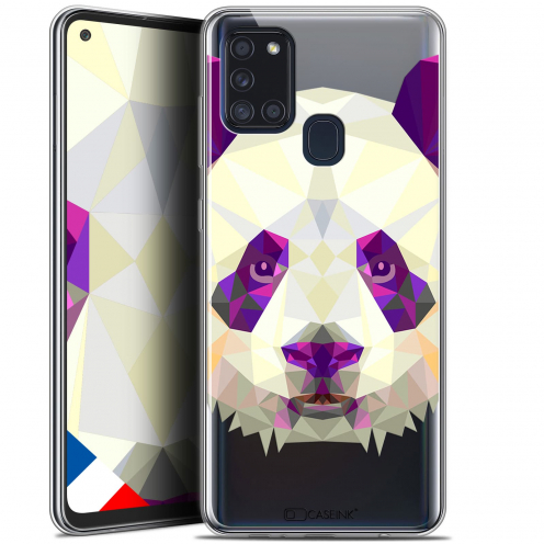 "Coque Gel Samsung A21S (6.5"") Polygon Animals - Panda"