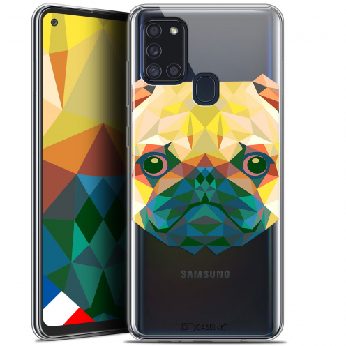 "Coque Gel Samsung A21S (6.5"") Polygon Animals - Chien"