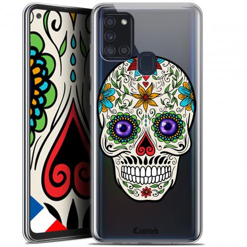 """Coque Gel Samsung A21S (6.5"""") Skull - Maria's Flower"""