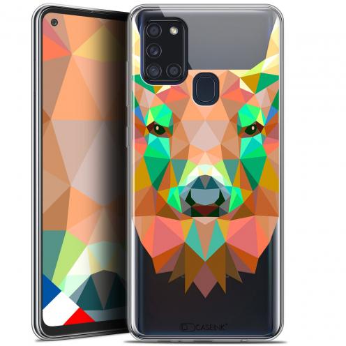 "Coque Gel Samsung A21S (6.5"") Polygon Animals - Cerf"
