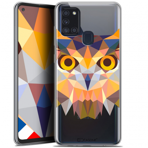 "Coque Gel Samsung A21S (6.5"") Polygon Animals - Hibou"