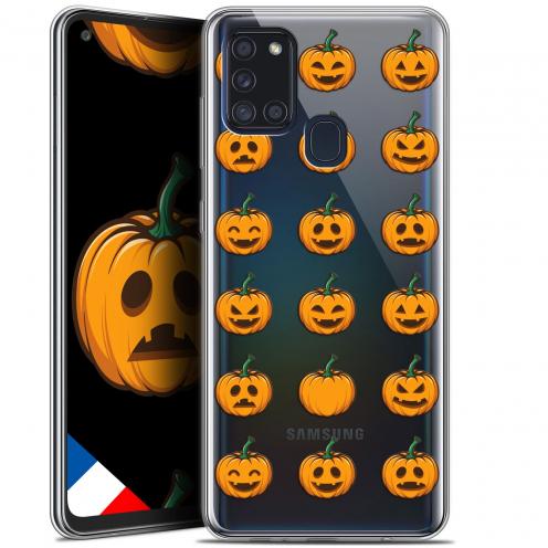"Coque Gel Samsung A21S (6.5"") Halloween - Smiley Citrouille"