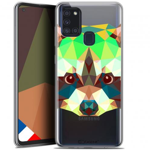 """Coque Gel Samsung A21S (6.5"""") Polygon Animals - Raton Laveur"""