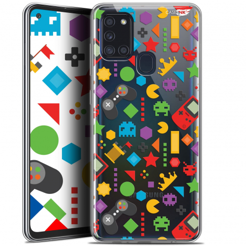 "Coque Gel Samsung A21S (6.5"") Motif - PacMan"
