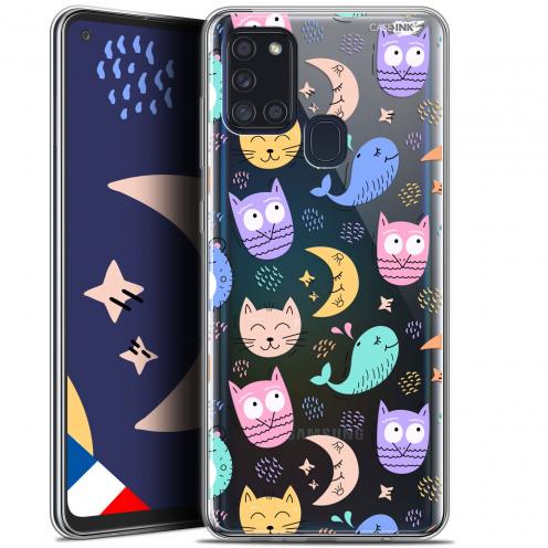"Coque Gel Samsung A21S (6.5"") Motif - Chat Hibou"