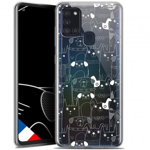 """Coque Gel Samsung A21S (6.5"""") Motif - Chien Blanc"""