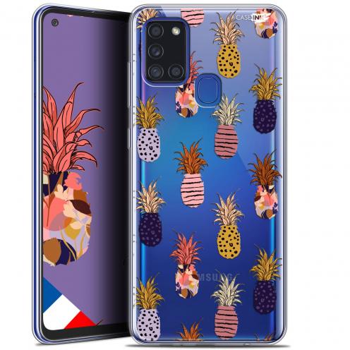"Coque Gel Samsung A21S (6.5"") Motif - Ananas Gold"