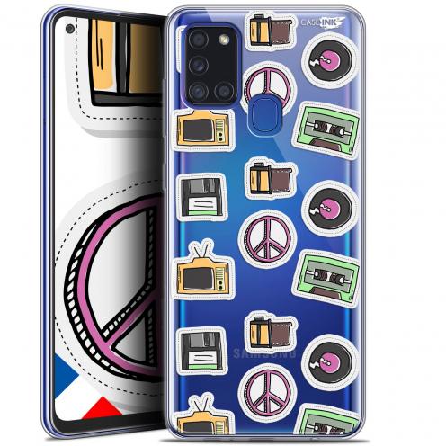 "Coque Gel Samsung A21S (6.5"") Motif - Vintage Stickers"