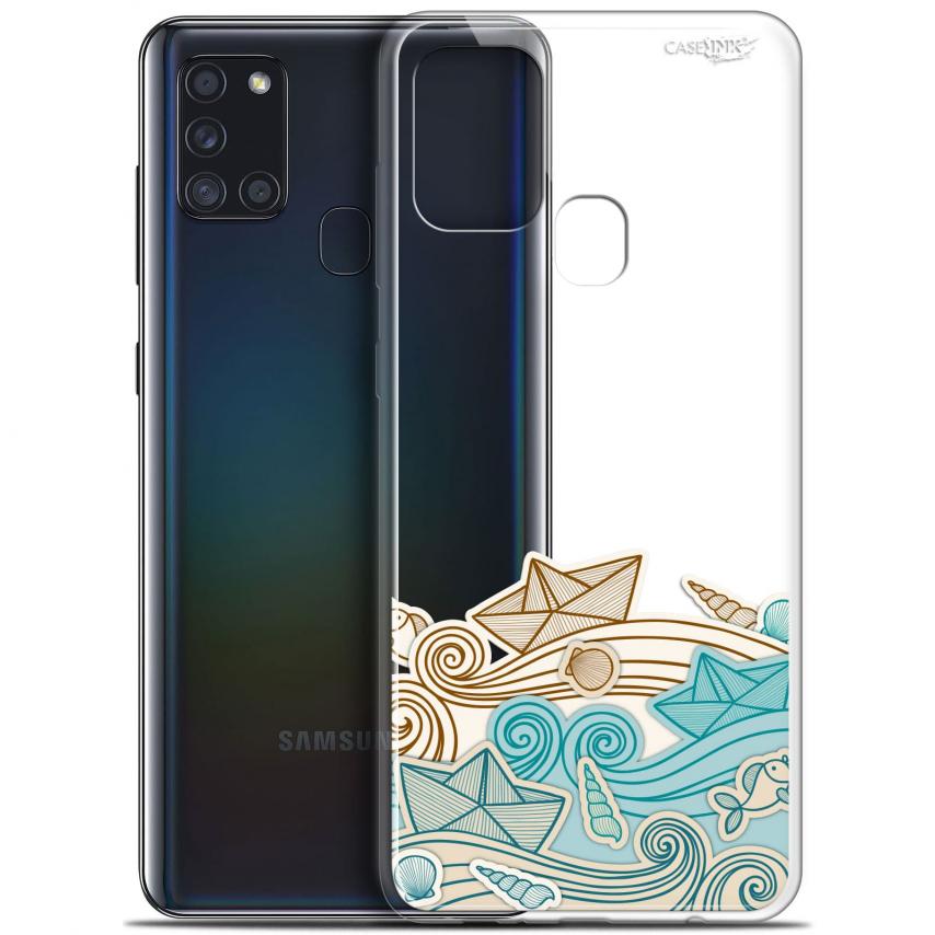 """Coque Gel Samsung A21S (6.5"""") Motif - Bateau de Papier"""