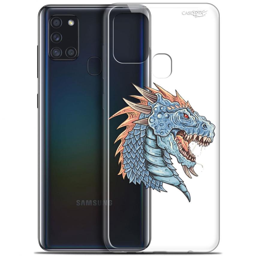 """Coque Gel Samsung A21S (6.5"""") Motif - Dragon Draw"""