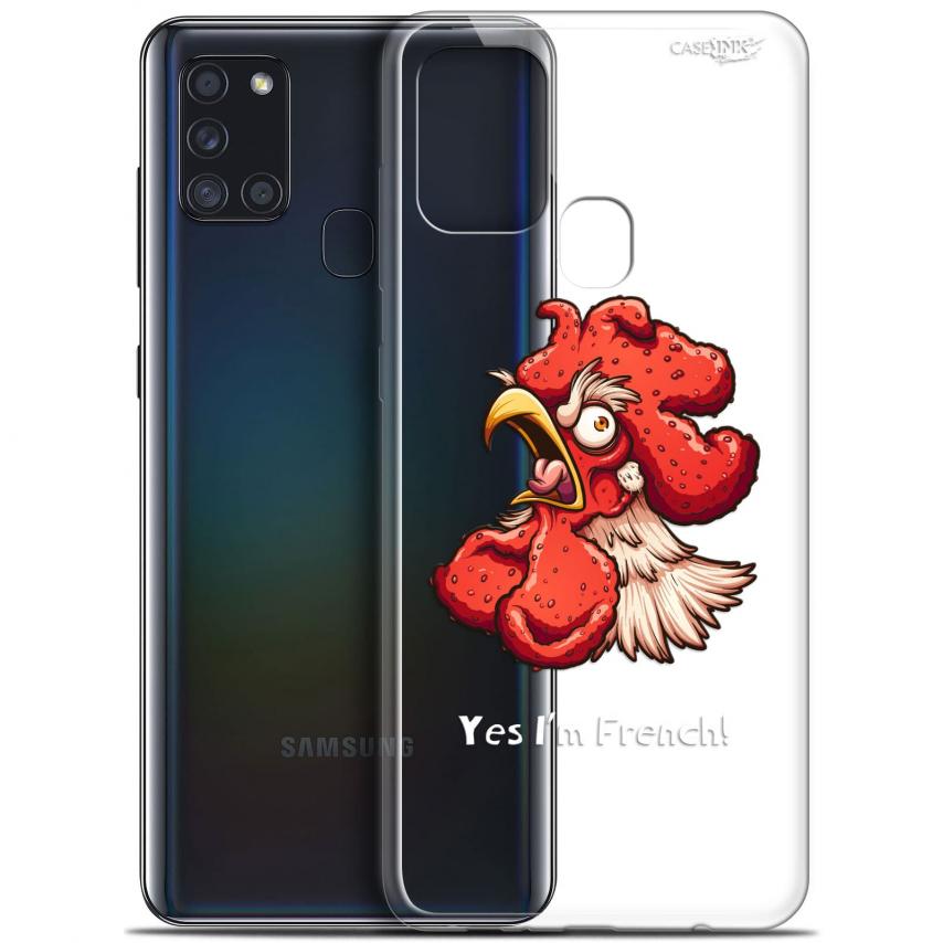 "Coque Gel Samsung A21S (6.5"") Motif - I'm French Coq"