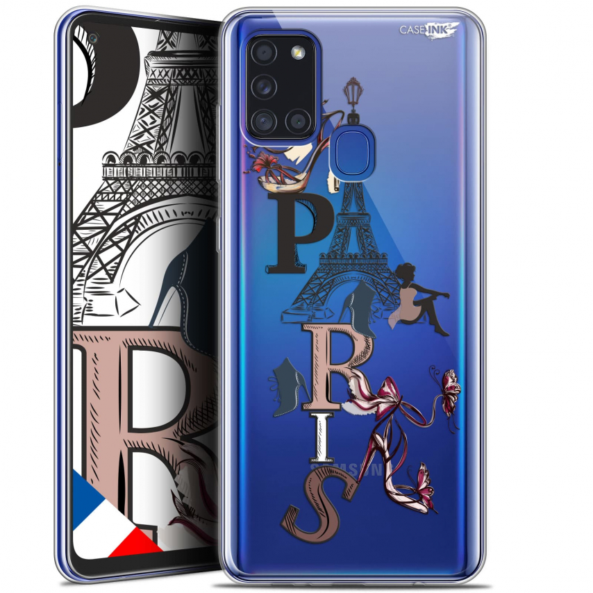 "Coque Gel Samsung A21S (6.5"") Motif - Stylish Paris"