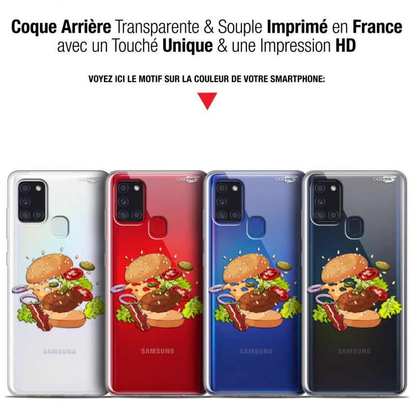 """Coque Gel Samsung A21S (6.5"""") Motif - Splash Burger"""