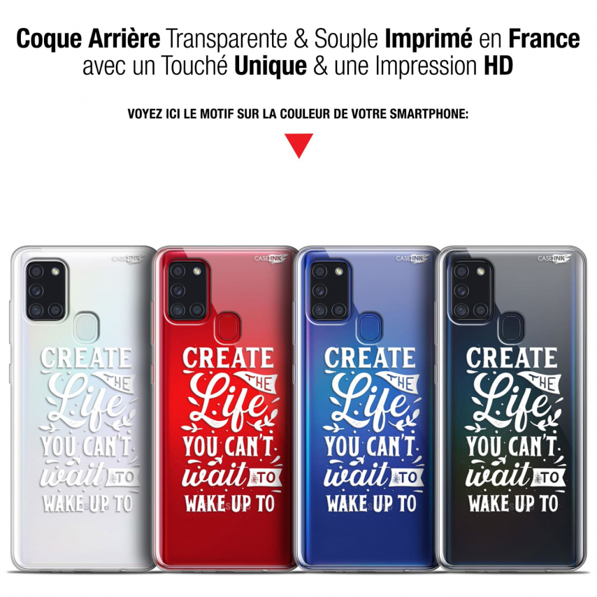 """Coque Gel Samsung A21S (6.5"""") Motif - Wake Up Your Life"""