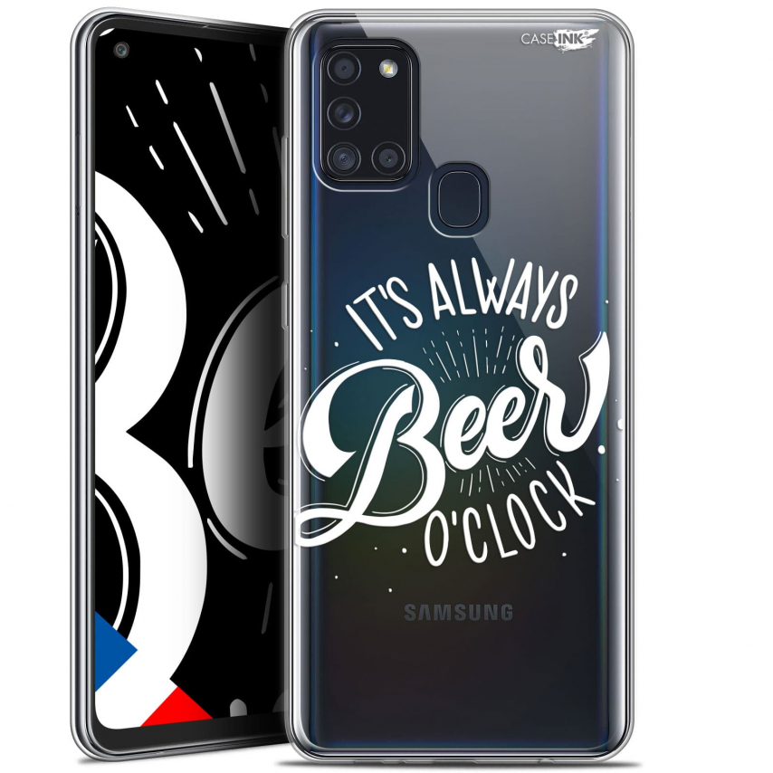 "Coque Gel Samsung A21S (6.5"") Motif - Its Beer O'Clock"