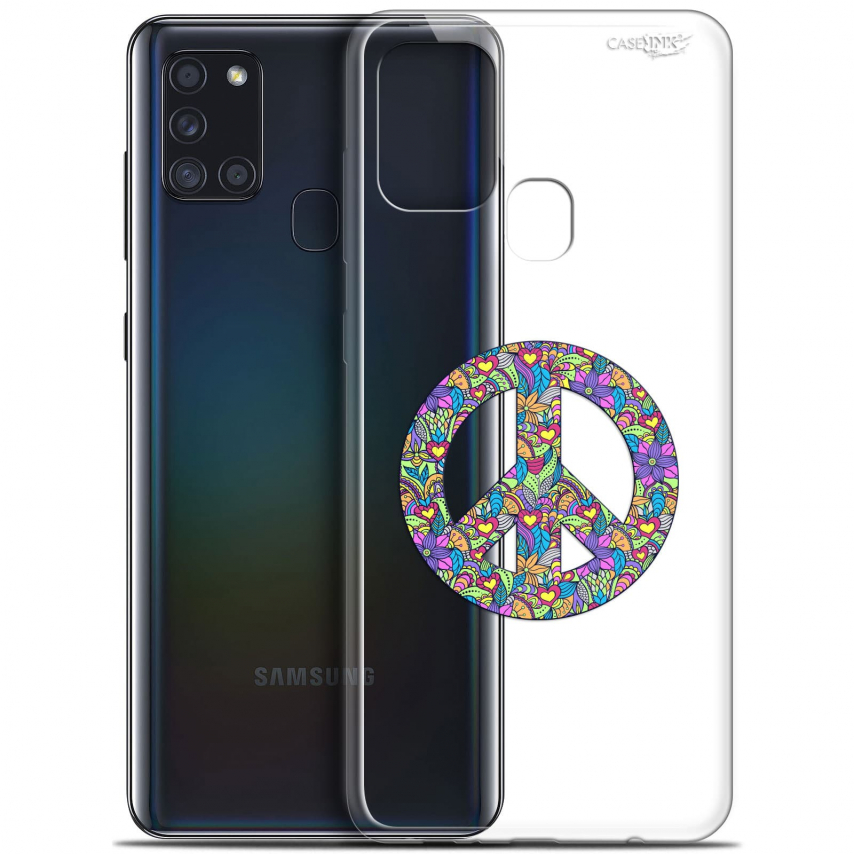"Coque Gel Samsung A21S (6.5"") Motif - Peace And Love"