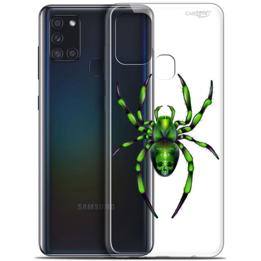 "Coque Gel Samsung A21S (6.5"") Motif - Arraignée Verte"