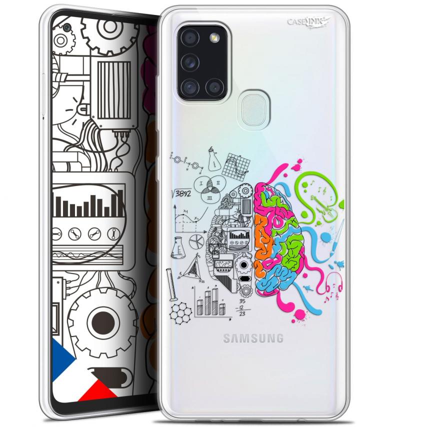 """Coque Gel Samsung A21S (6.5"""") Motif - Le Cerveau"""