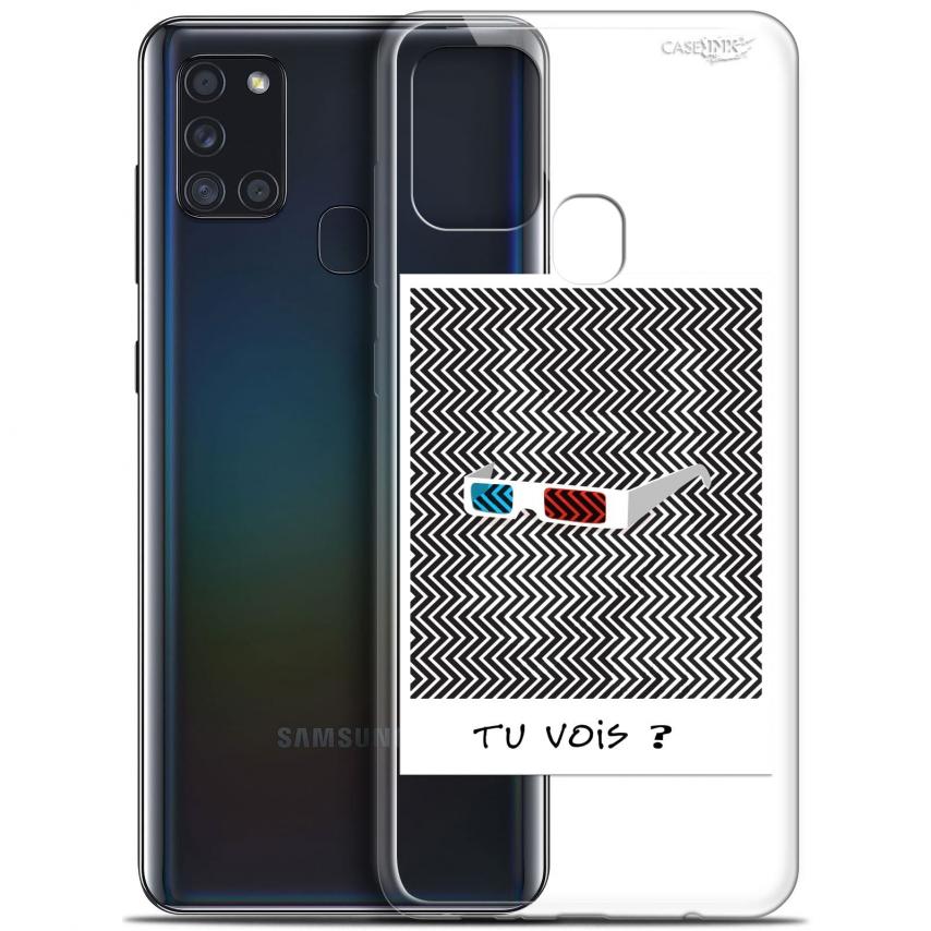 """Coque Gel Samsung A21S (6.5"""") Motif - Tu Vois ce que Je Vois ?"""