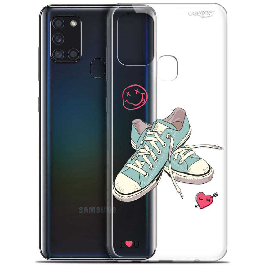 """Coque Gel Samsung A21S (6.5"""") Motif - Mes Sneakers d'Amour"""