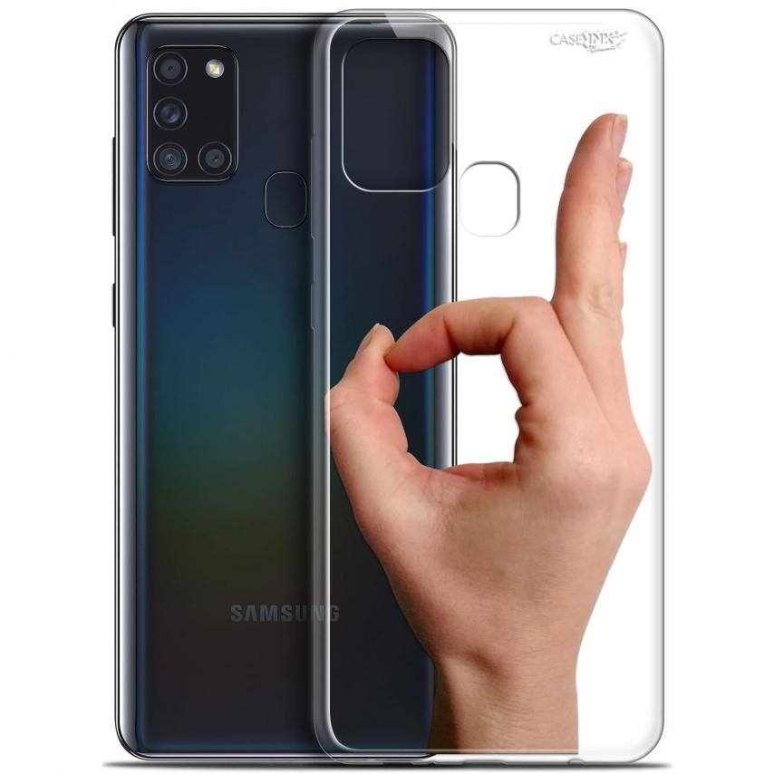 """Coque Gel Samsung A21S (6.5"""") Motif - Le Jeu du Rond"""