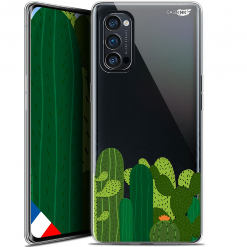 "Coque Gel Oppo Reno 4 Pro 5G (6.5"") Motif - Cactus"