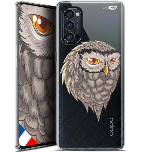 "Coque Gel Oppo Reno 4 Pro 5G (6.5"") Motif - Hibou Draw"