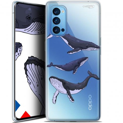 """Coque Gel Oppo Reno 4 Pro 5G (6.5"""") Motif - Les 3 Baleines"""