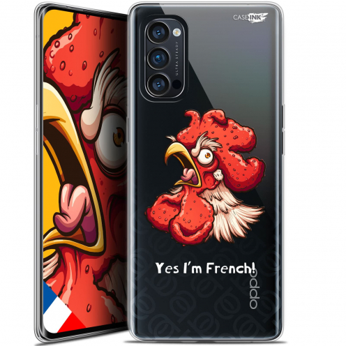 "Coque Gel Oppo Reno 4 Pro 5G (6.5"") Motif - I'm French Coq"