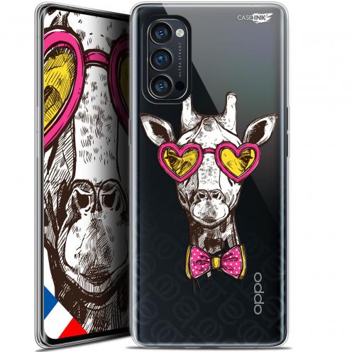 "Coque Gel Oppo Reno 4 Pro 5G (6.5"") Motif - Hipster Giraffe"