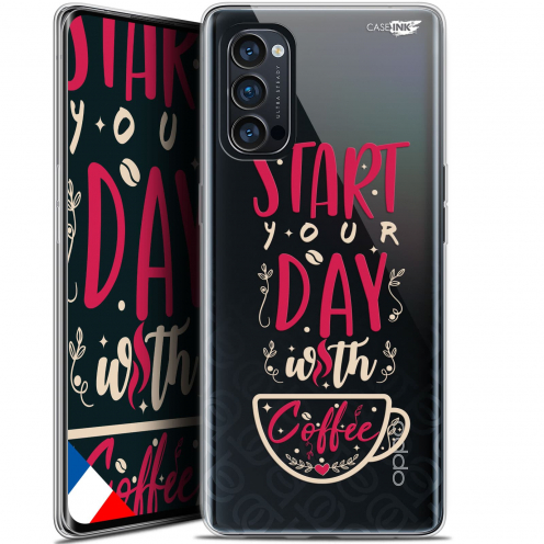 "Coque Gel Oppo Reno 4 Pro 5G (6.5"") Motif - Start With Coffee"