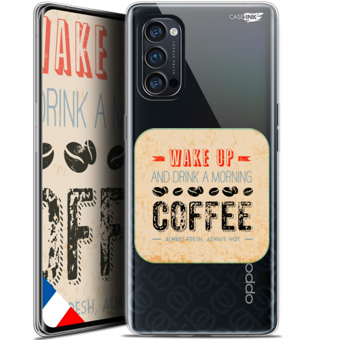 "Coque Gel Oppo Reno 4 Pro 5G (6.5"") Motif - Wake Up With Coffee"