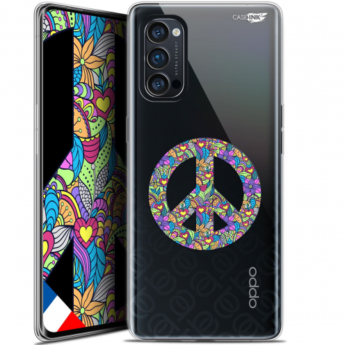 "Coque Gel Oppo Reno 4 Pro 5G (6.5"") Motif - Peace And Love"