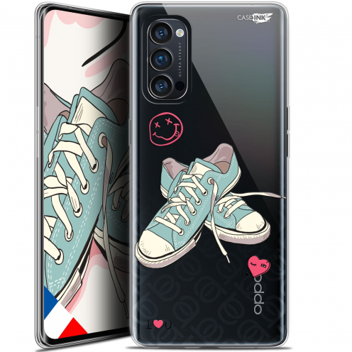 "Coque Gel Oppo Reno 4 Pro 5G (6.5"") Motif - Mes Sneakers d'Amour"