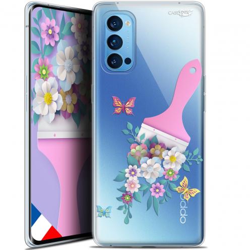 "Coque Gel Oppo Reno 4 Pro 5G (6.5"") Motif - Pinceau à Fleurs"