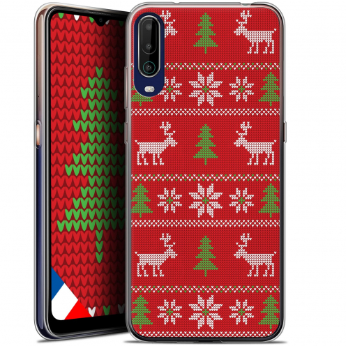 """Coque Gel Wiko View 4 (6.5"""") Noël - Couture Rouge"""
