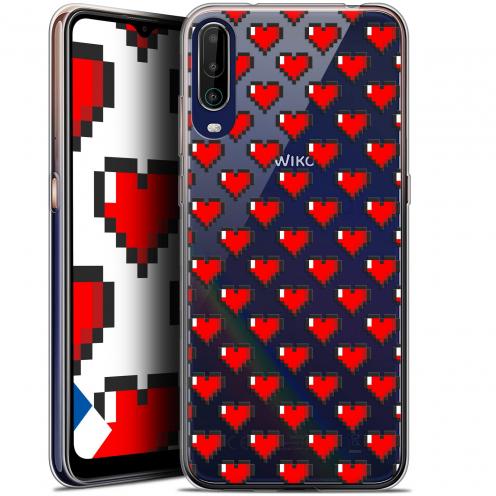 """Coque Gel Wiko View 4 (6.5"""") Love - Pixel Art"""